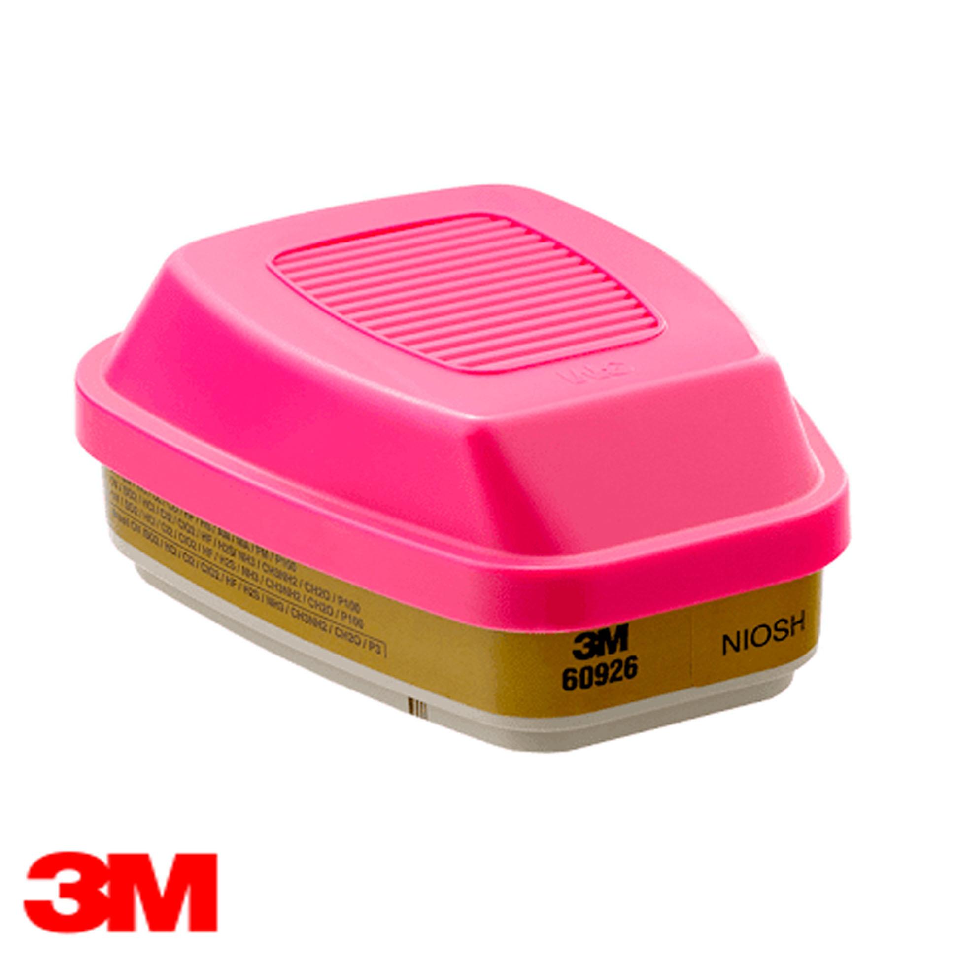 3M® Cartucho Dual para Multigases, Vapores y partículas P100, 60926
