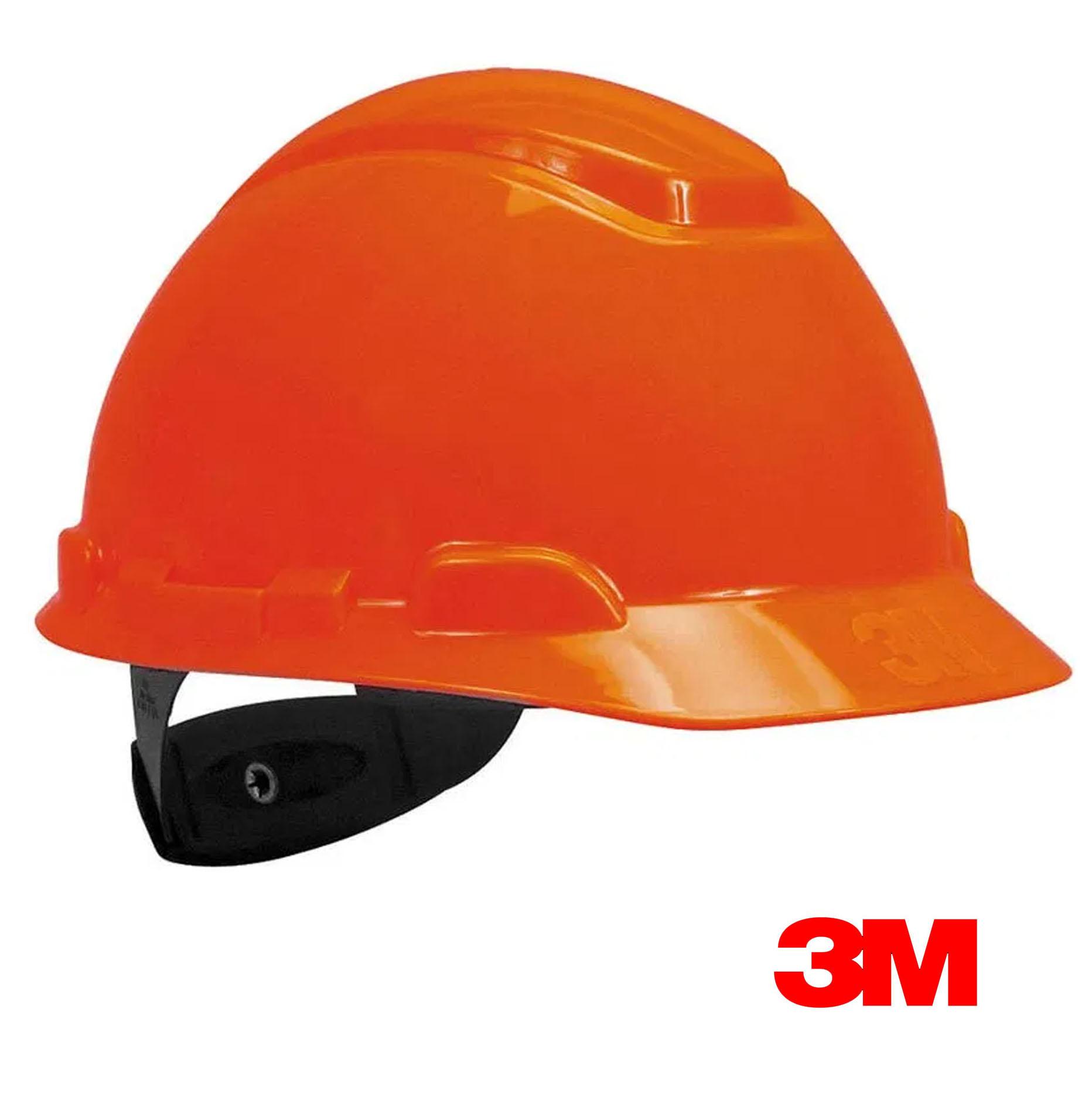 Casco de seguridad 3M Naranja Con Rachet