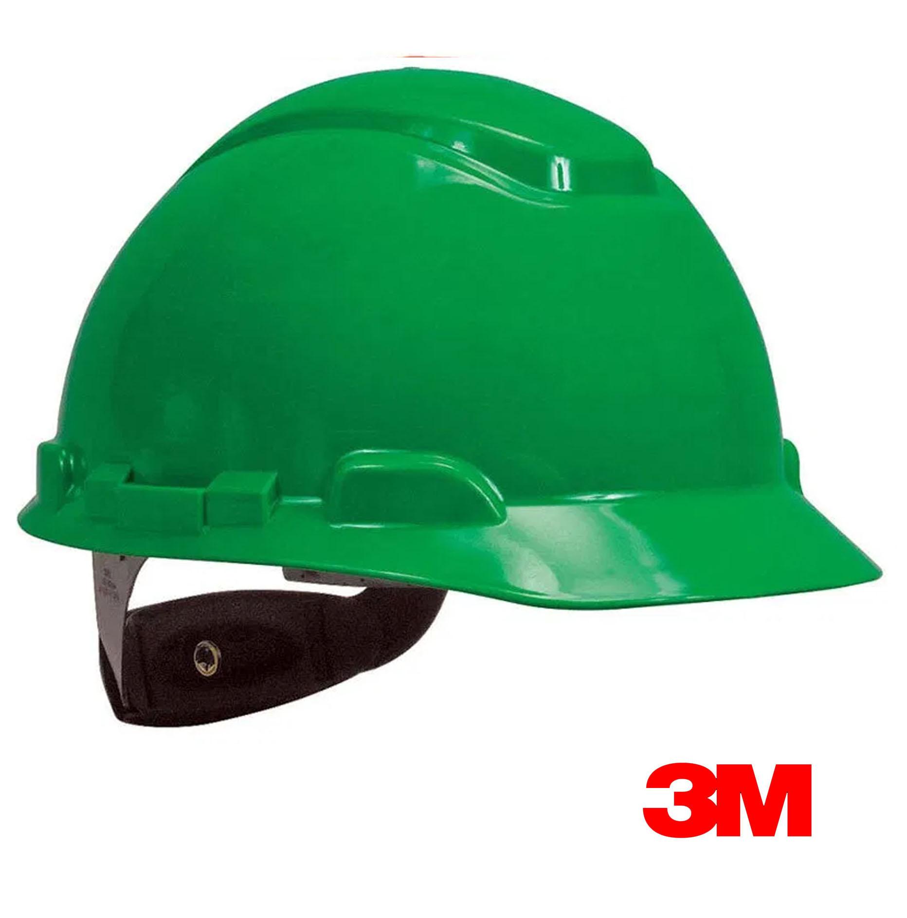 Casco de seguridad 3M Verde Con Rachet