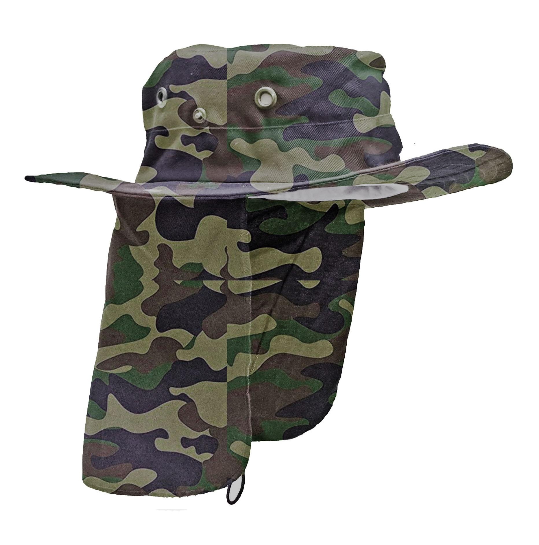 Sombrero Con Tapa Camuflado