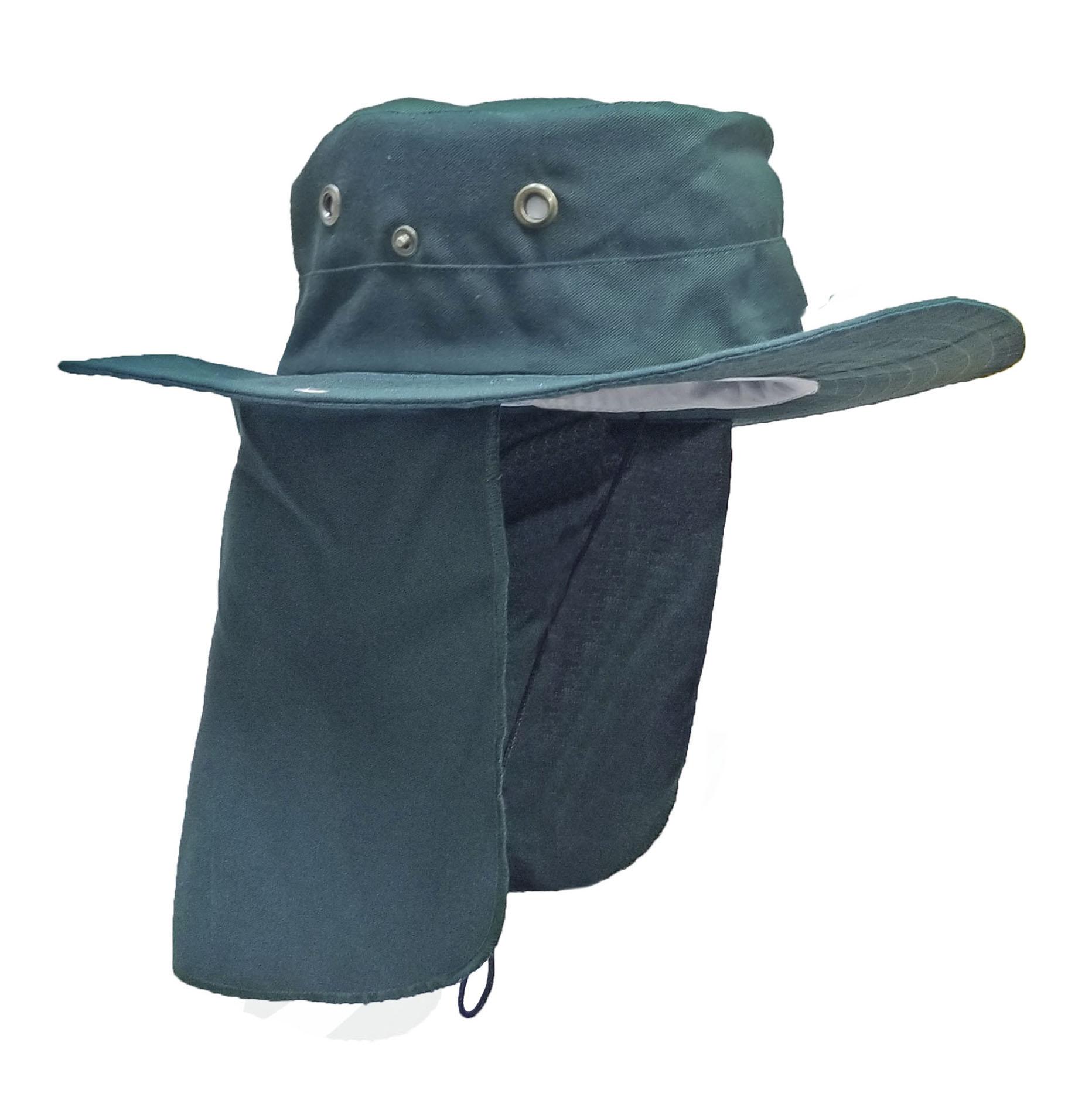 Sombrero Con Tapa Sol Verde Botella