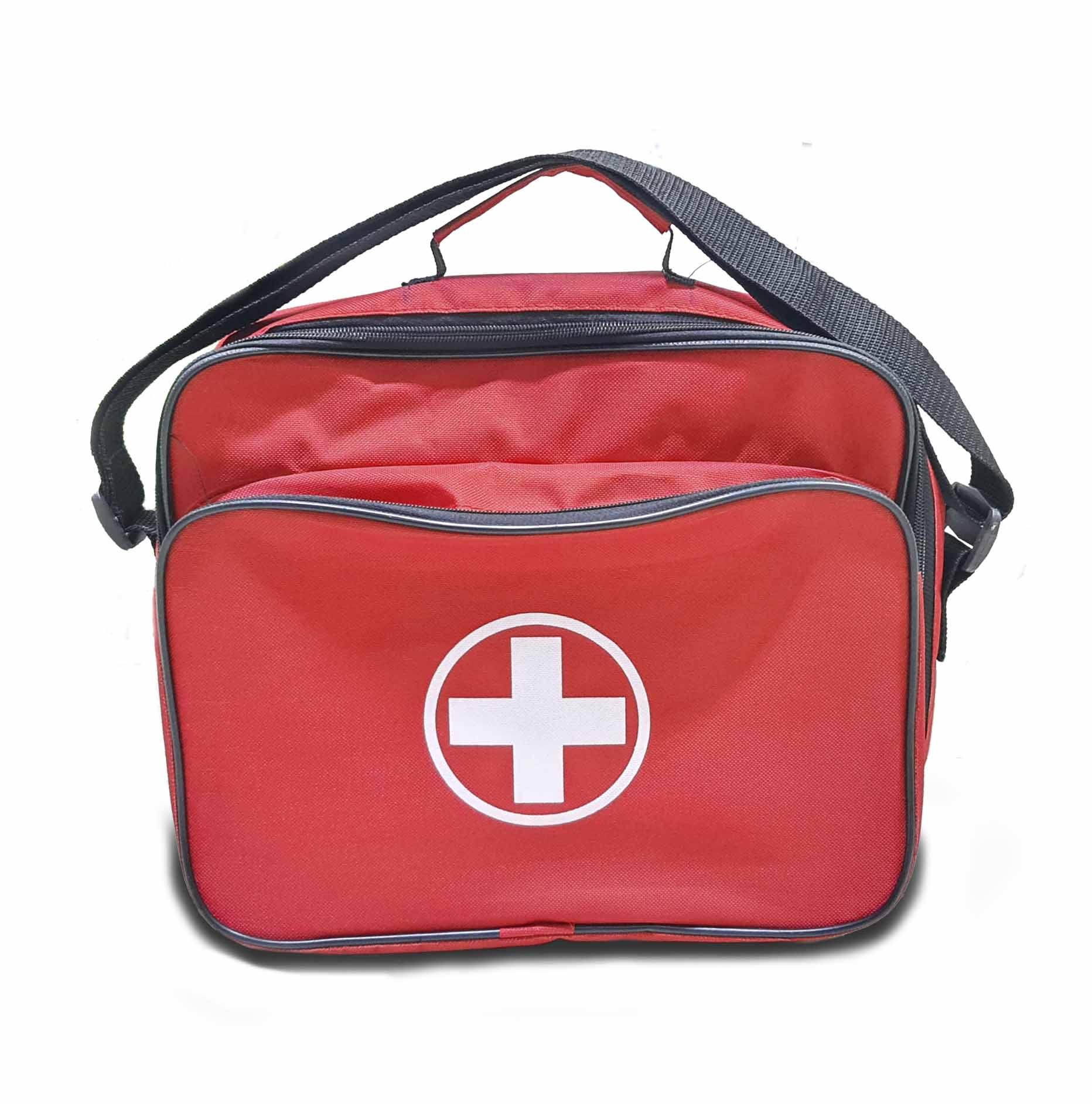 Botiquín Portátil tipo maleta color rojo de tela
