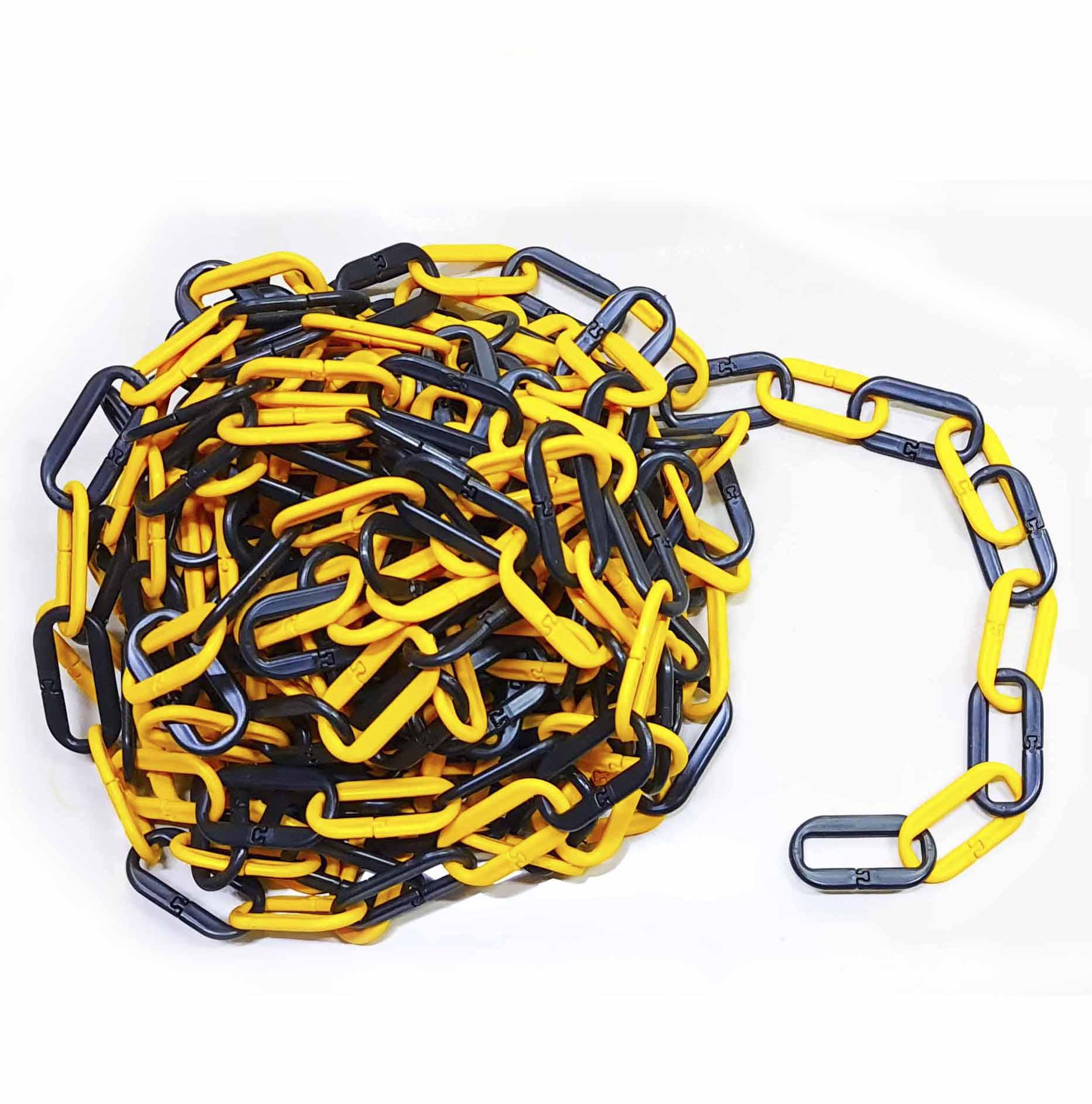 Cadena de plástico pvc color amarillo / negro