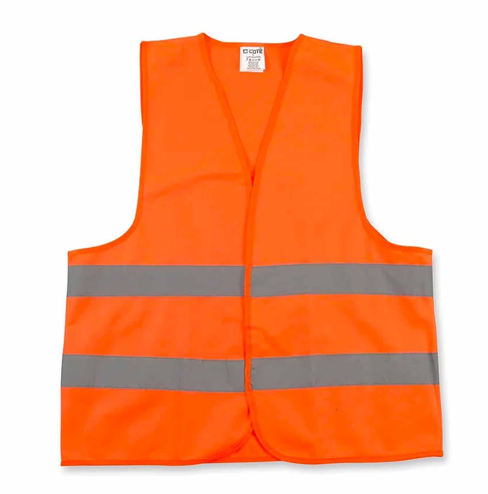 Chaleco De Seguridad Poliester Naranja Con cinta Reflectiva